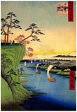 Utagawa Hiroshige View of Konodai and Tone River Art Print Poster Prints