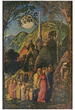 Samuel Palmer (After the evening prayer) Art Poster Print Posters