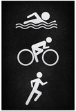 Triathlon Pavement Sports Poster Print Prints