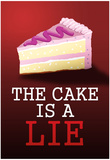 The Cake is a Lie Portal Video Game Poster Print Obrazy