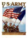 U.S. Army Guardian of the Colors WWII War Propaganda Art Print Poster Masterprint