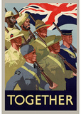 Together British Servicement WWII War Propaganda Art Print Poster Masterprint