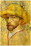 Vincent Van Gogh Self-Portrait with Straw Hat 2 Art Print Poster Prints