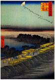 Utagawa Hiroshige Nihon Embankment Art Print Poster Prints