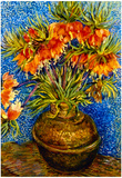 Vincent Van Gogh (Still Life with Crown Imperials in a Bronzevase) Art Poster Print Prints