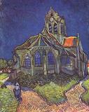 Vincent Van Gogh (Church of Auvers) Art Poster Print Masterprint