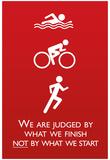 Triathlon Motivational Quote Sports Poster Print Affiches