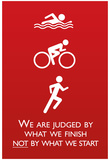 Triathlon Motivational Quote Sports Poster Print Plakater