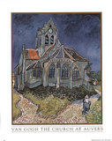 Vincent Van Gogh Church at Auvers Art Print POSTER Prints