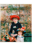 Pierre-Auguste Renoir (On the Terrace) Art Poster Print Photo