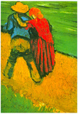 Vincent Van Gogh Two Lovers Art Print Poster Posters