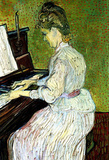 Vincent Van Gogh (Mademoiselle Gachet at the Piano) Art Poster Print Masterprint