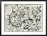 Nr. 14 (Grau) Poster von Jackson Pollock