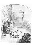 Rembrandt Harmensz. van Rijn (Jonah before Nineveh wall) Art Poster Print Print
