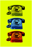 Vintage Rotary Telephone Pop Art Print Poster Print