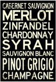 Wine Grape Types Art Print Poster Plakát