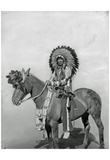 Native American on Horseback 3 Archival Photo Poster Print Posters