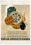Visit Rural Pennsylvania Tourism Travel Vintage Ad Poster Print Posters