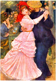 Pierre-Auguste Renoir (Dance in Bougival) Art Poster Print Posters