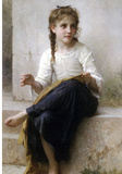 William-Adolphe Bouguereau Sewing Art Print Poster Masterprint