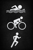 Triathlon Pavement Sports Poster Print Masterprint