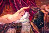Tintoretto Joseph and the wife of Potiphar Art Print Poster Masterprint