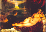 Titian Venus with Cupid Art Print Poster Prints