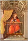 Sandro Botticelli St Augustine in Exam Art Print Poster Print