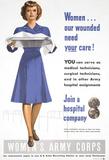 Women's Army Corps WWII War Propaganda Art Print Poster Masterprint