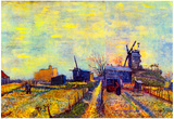Vincent Van Gogh Vegetable Gardens on the Montmartre Art Print Poster Posters