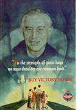 Shoulder the Common Load Buy Victory Bonds WWII War Propaganda Art Print Poster Masterprint