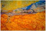 Vincent Van Gogh Reaper Art Print Poster Posters