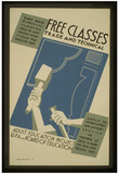 WPA (Free Classes, Trade and Technical) Art Poster Print Posters