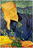 Vincent Van Gogh Portrait of Doctor Gachet 2 Art Poster Print Posters