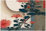 Utagawa Hiroshige Chrysanthemums Art Print Poster Plakáty