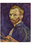 Vincent Van Gogh (Self Portrait with Palette) Art Poster Print Prints