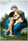 William-Adolphe Bouguereau Fraternal Love Art Print Poster Prints