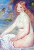 Pierre Auguste Renoir The Blond Bather Art Print Poster Masterprint