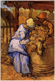 Vincent Van Gogh Sheep Shearers Art Print Poster Prints