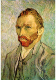 Vincent Van Gogh Self Portrait 1 Art Poster Print Masterprint