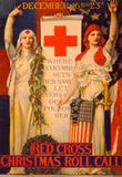Red Cross Christmas Roll Call Vintage Ad Poster Print Masterprint