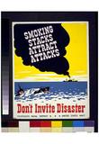 US Navy (Smoking Stacks Attract Attacks) Art Poster Print Print