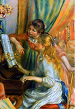 Pierre Auguste Renoir Girls at the Piano Art Print Poster Masterprint