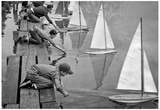 Toy Sail Boats Archival Photo Poster Print Posters
