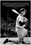 Ted Williams Baseball Famous Quote Archival Photo Poster Plakater