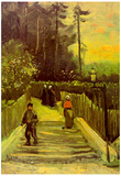 Vincent Van Gogh Sloping Path in Montmartre Art Print Poster Posters