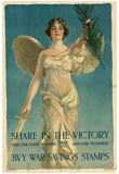 Share in the Victory Buy War Savings Stamps WWI War Propaganda Art Print Poster Prints