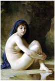 William-Adolphe Bouguereau Seated Nude Art Print Poster Prints