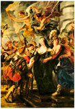 Peter Paul Rubens The Medici's Queen Escapes from Blois Art Print Poster Poster