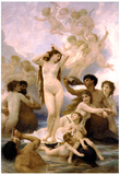 William-Adolphe Bouguereau The Birth of Venus Art Print Poster Poster
